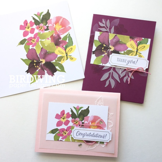 Spring Cards with the Blissful Blooms Kit - Birdwing Paper Designs