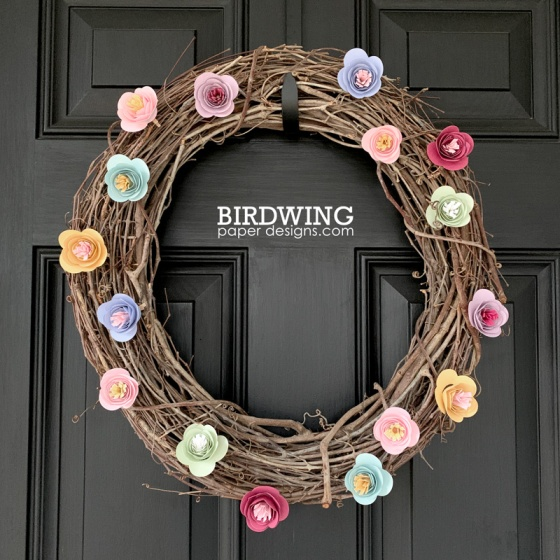 Making a Paper Flower Wreath - Birdwing Paper Designs