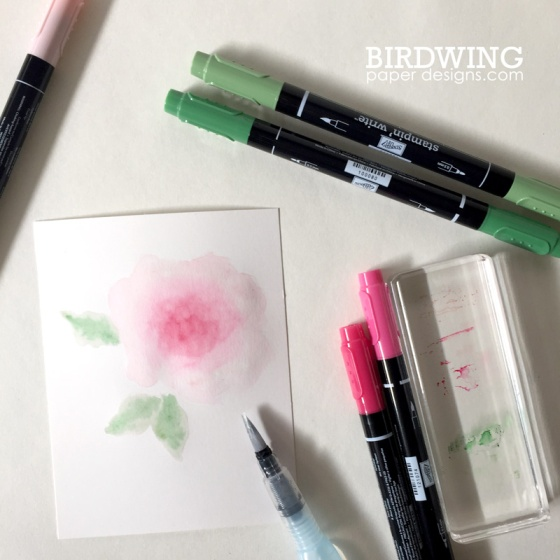 Watercolour with Emboss - Birdwing Paper Designs