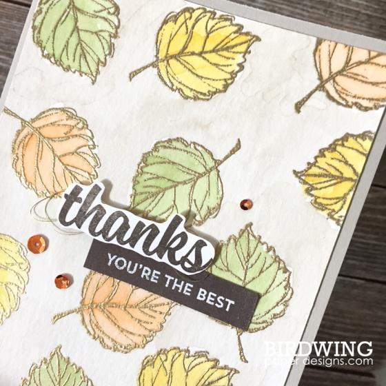 Watercolours with Emboss - Birdwing Paper Designs