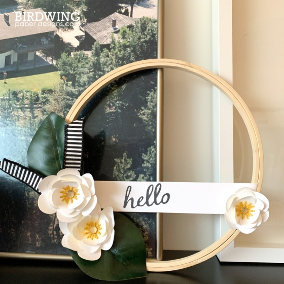 Magnolia Flower Hoop - Birdwing Paper Designs