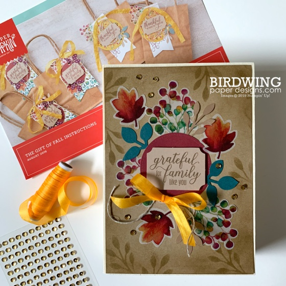 Fall Frames with Paper Pumpkin - Birdwing Paper Designs
