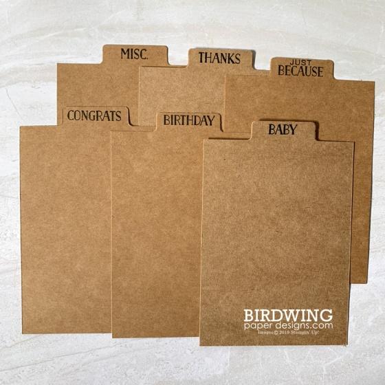 Card Dividers - Birdwing Paper Designs