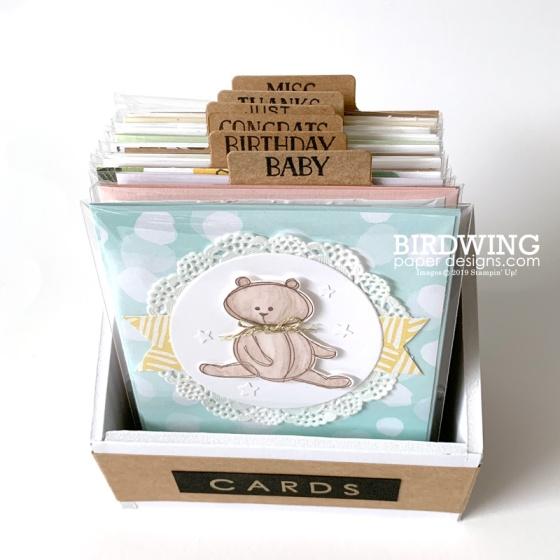 Card Organizer - Birdwing Paper Designs