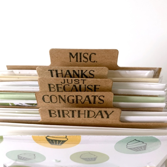 Card Organizer - Birdwing Paper Designs
