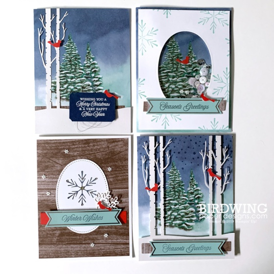 Winter Woods Holiday Cards - Birdwing Paper Designs