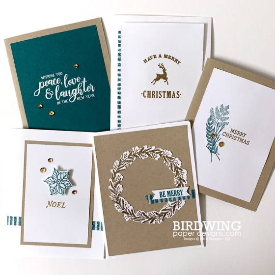 Christmas Card Packs: Festive Modern - Birdwing Paper Designs
