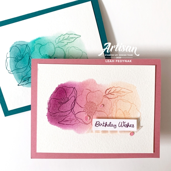 Stampin' Up! Corporate Post - Multicolour Stamping On A Watercolour Background