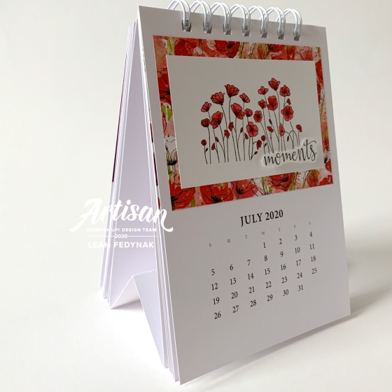 Peaceful Poppies Calendar - Birdwing Paper Designs