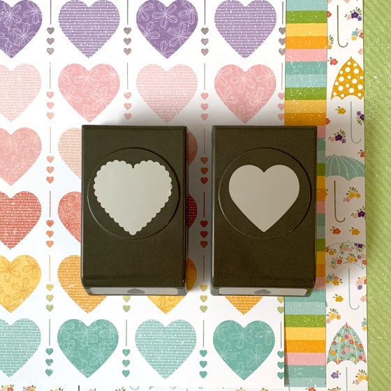 Pleased As Punch DSP and Heart Punches from Stampin' Up!
